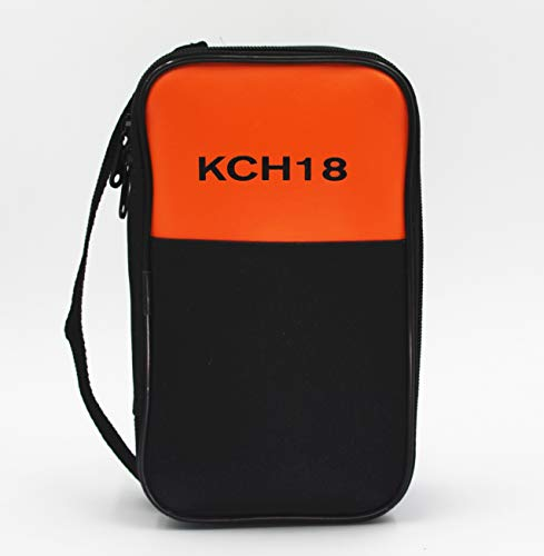TestHelper KCH18 Soft Carrying Case Use For Handheld Multimeter,Phase Indicator,Thermometer, Calibrator,Clamp meter