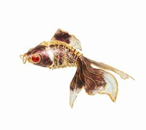 Chinese New Year Gifts / Chinese Folk Crafts / Chinese Enamel Crafts: Chinese Enamel Carp (Cloisonne Fish compare prices)