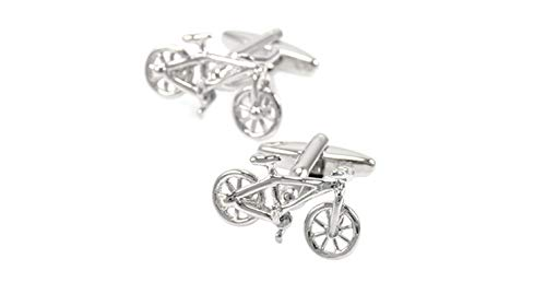 Aooaz Jewelry Cufflinks for Men Bicycle E Wedding Cufflinks White E