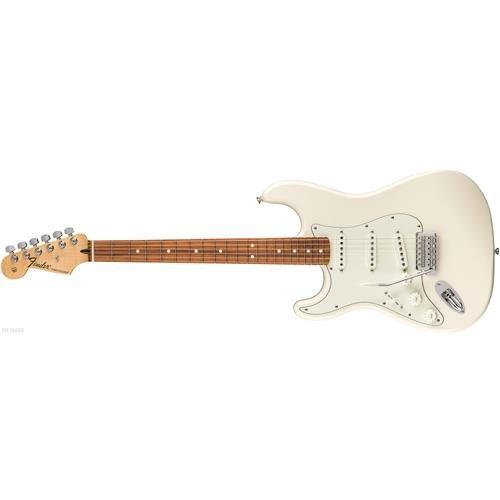 Fender Telecaster Arctic White (Fender Standard Stratocaster Electric Guitar - Left Handed - Pau Ferro Fingerboard, Arctic White)
