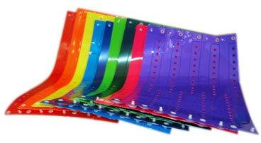 100 Wristbands - L-Shape Vinyl (Plastic) Wristband Security bands Plastic bands Mixed - Band L Usa