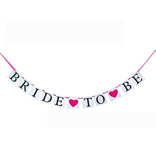 (NszzJixo9 Bridal Shower 3M Bride To Be Paper Banner Wedding Party Pull Flower Flag Events Presents Bridal Shower Girls Night Out Hen Party Gift Accessories Wedding Favor)