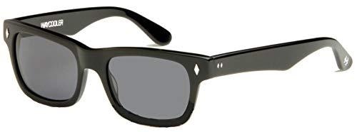Smoke Cr 39 Lenses - Tres Noir Optics Waycooler Sunglasses (Shiny Black Frames/Smoke CR-39 Lenses)