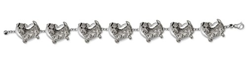 Airedale Terrier Jewelry Sterling Silver Airedale Terrier Bracelet Handmade Dog Jewelry AR2-BR