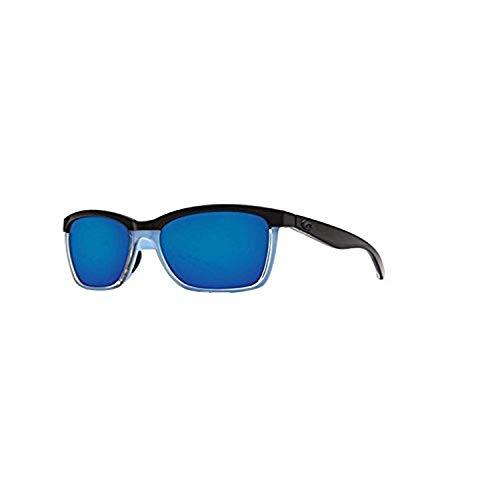 (Costa Anaa Shiny Black/Crystal/Lt Blue/Blue Mirror Glass W580 & Carekit)