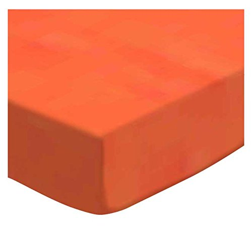 SheetWorld Fitted Cradle Sheet - Deep Orange Woven - Made In USA