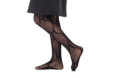 Fishnet Mesh Lace Little Girls' Tights - Fashionable Tights With Cute Pattern