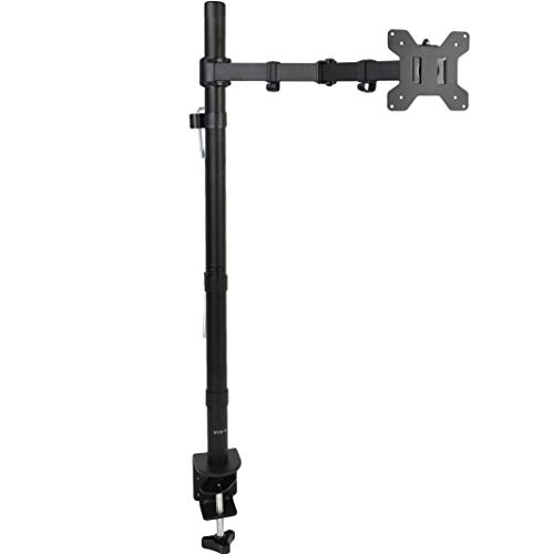 VIVO Extra Tall Single Monitor Desk Mount Stand with 39 inch Stand-up Pole | Fully Adjustable Extended Arm Fits 1 Screen up to 27 inches (STAND-V011)