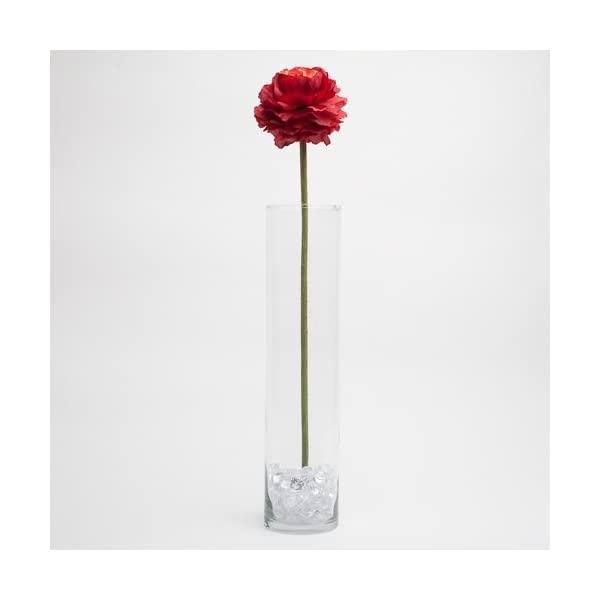 Richland Silk Poppy Artificial Flowers 26″ Red Set of 24