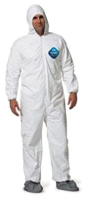Dupont - Tyvek Disposable Coveralls with Hood and Boots - size: 4X-Large
