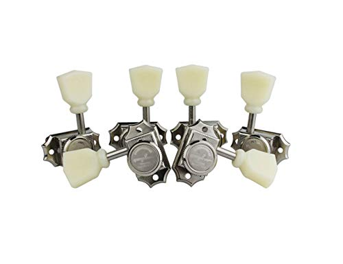 - Guyker 6Pcs Guitar Machine Heads (3R + 3L) - Locking String Vintage Deluxe Tuning Key Pegs Nickel Tuners Set Replacement Parts for Electric or Acoustic Guitars - (Cream Handle)