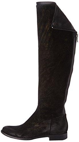 Now 1568 - Botas de cuero mujer negro - Noir (Giove Nero Nappa Nero)