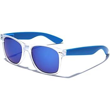 Amazon.com: Colorful Retro Fashion Sunglasses - Translucent Clear ...
