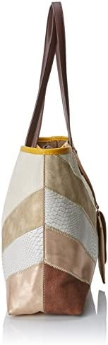 Desigual Bols_tantra Seattle femme Sacs portés épaule Marron (Marron Tierra) 13x29.5x38 cm (B x H x T)