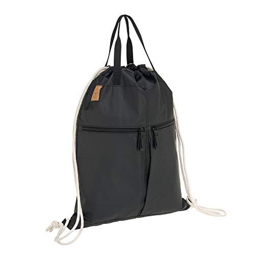 LÄSSIG Rucksack Turnbeutel mit Zugband/Green Label Tyve String bag, black