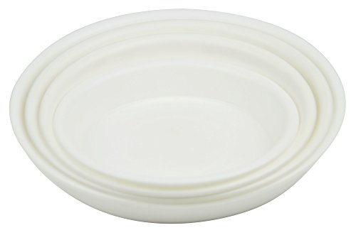 4.5'' Round Plant Saucer Planter Tray Pat Pallet for Flowerpot,White,1200 Count by Zhanwang