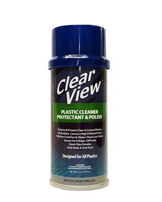 AVIATION LABORATORIES AVL-Clear View Plastic Polish Makes Clear Plastics Look Like New 6oz