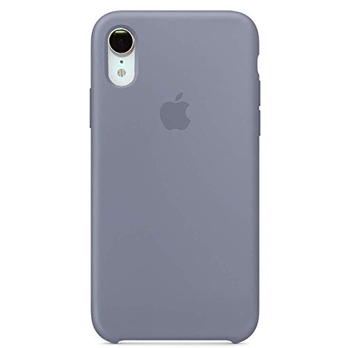 (Anti-Drop iPhone XR(6.1Inch) Liquid Silicone Gel Case, TOSHIELD Soft Microfiber Cloth Lining Cushion for iPhone XR- Retail Package (Grey)