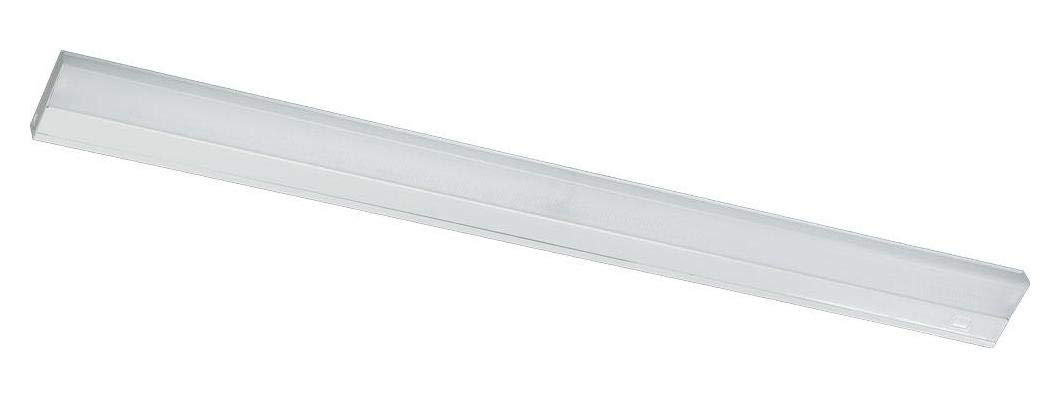 Two Light White Matte White Glass Fluorescent Undercabinet Light