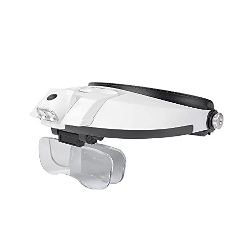 헤드 루페 2LED 라이트 5개 렌즈 확대경