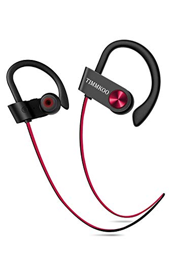 Bluetooth Headphones IPX7 Waterproof, Wireless Running Earbuds Bluetooth 4.1, HiFi Bass Stereo Sweatproof Earphones w/Mic, Noise Cancelling Headset for Workout, Sports, Gym, 8 Hours Play Time