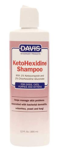Davis KetoHexidine Shampoo Pets, 12 oz 12 Ounce Dog Shampoo