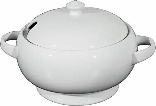 WAS 4979250 - Zuppiera in porcellana senza coperchio, 2,5 l