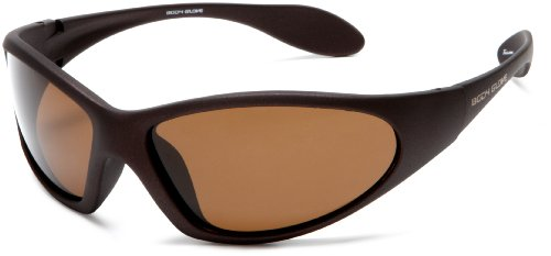 Body Glove QBG1106 Polarized Sport Sunglasses,Matte Brown Rubberized Frame/Brown with Silver Mirror Flash Lens,one size Brown Polarized Silver Mirror