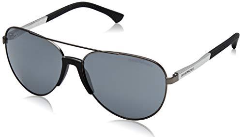 Armani Aviator Sunglasses - Emporio Armani EA2059 30106G Matte Gunmetal EA2059 Pilot Sunglasses Lens Catego