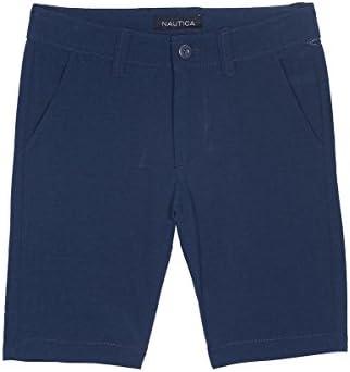 Nautica Boys Solid Flat Front Short