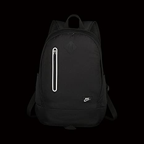 Nike Kids  Y Nk Chyn Bkpk Solid Backpack, Black Matte Silver, One Size   Amazon.co.uk  Sports   Outdoors dbcaaf2599