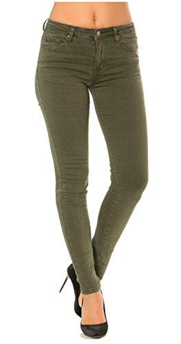 Denim Straight Boyfriend A 42 Jeans 2 Da Pantaloni Donna Slim Skinny 34 Kaki Bootcut Slim Skinny wnRWTxqaF