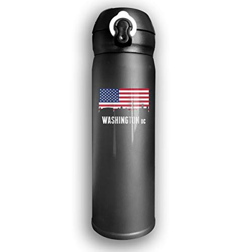 - Qiop Nee Insulated Vacuum 17oz Stainless Steel Water Bottle American Flag Washington DC for Camping