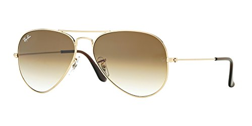 Ray-ban Brown Grad Aviator Sunglasses RB 3025 001/51 55mm +SD Gift+Cleaning - Ban Gradient Brown 3025 55mm Gold Ray