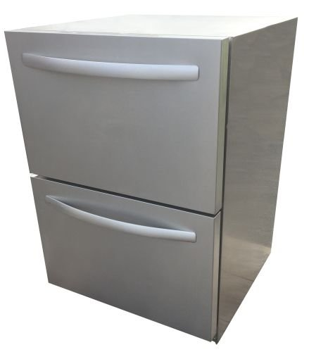 (RCS Gas Grills REFR4 Double Drawer Refrigerator - Stainless Steel)