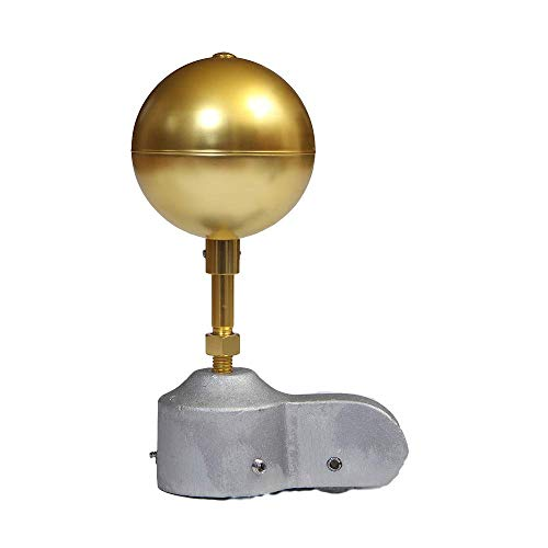 "Flagpole Truck Pulley and Gold Anodized Ball Ornament Topper Set Multiple Sizes (2 1/2"" Truck & 3"" Gold Ball)"