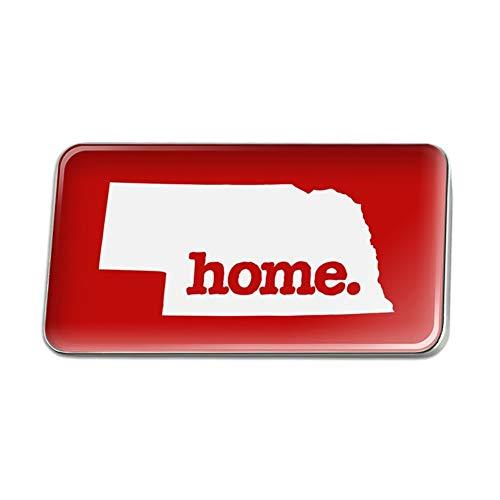 Lapel Pin Nebraska - GRAPHICS & MORE Nebraska NE Home State Solid Red Rectangle Lapel Pin Tie Tack