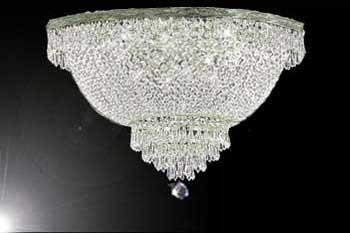 "French Empire Crystal Semi Flush Basket Chandelier Chandeliers Lighting H18"" X W24"""
