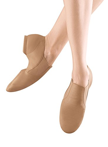 Bloch Dance Girl's Elasta Bootie Jazz Shoe, Tan,  2 M US (Toddler/Youth) -
