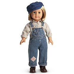 American Girl Kit's Hobo Bib Overalls Outfit with Hat for 18