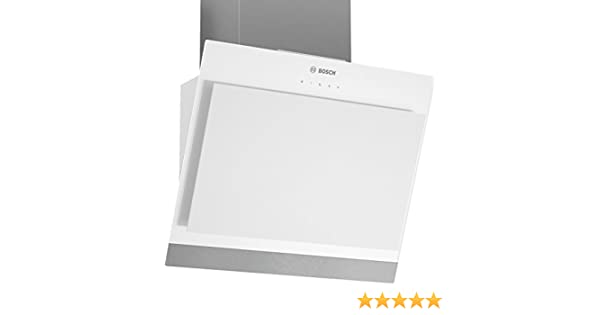 Bosch DWK06G620 Campana extractora de pared, 40 W, Vidrio, Acero Inoxidable, 3 Velocidades, Color blanco: Amazon.es: Hogar