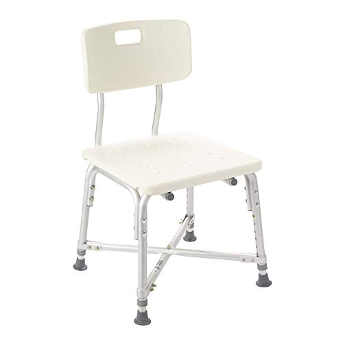 - Drive Medical Heavy Duty Bariatric Bath Bench with Back, White