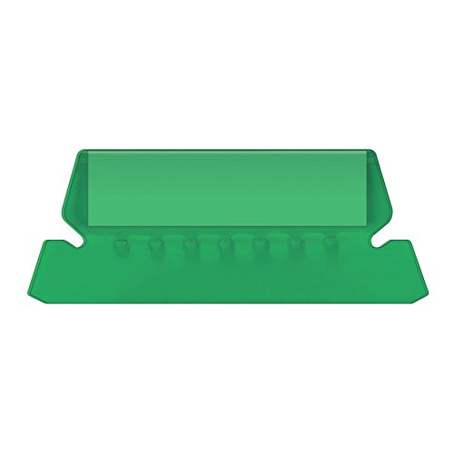 Pendaflex Hanging Folder Tabs, 2, Clear Green, 25 Tabs and Inserts per Pack (42 GRE)