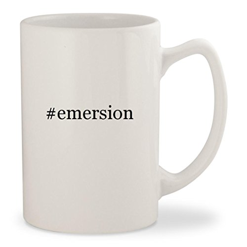 #emersion - White Hashtag 14oz Ceramic Statesman Coffee Mug Cup