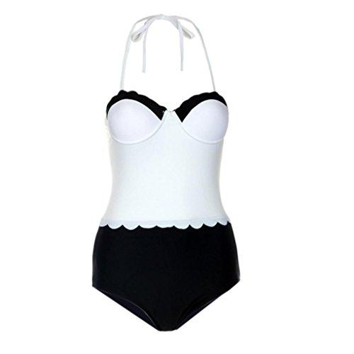 Durée Sanfashion À Vintage Bain Classique Vintages Pièces 1 Zippé Femme De Été Col Limitée Bikinis Maillots xn1S4UqHnw
