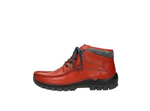 terracotta brick Rosso Leder Sneaker donna 256 Wolky zAwXBqx