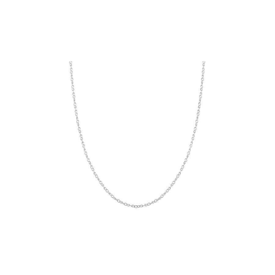Kooljewelry Sterling Silver 1mm Twisted Curb Chain (14, 16, 18, 20, 22, 24, 30 or 36 inch)
