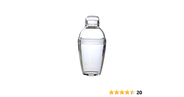 Cocktail Shaker 24 Pieces Fineline Settings Quenchers Clear 7 oz