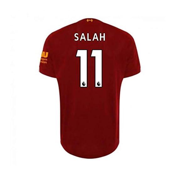 2019-2020 Liverpool Home Football Soccer T-Shirt Maillot (Mo Salah 11) - Kids