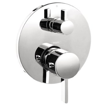Hansgrohe 04230820 S Thermostatic Trim With Volume Control with Glory Glaze Cleaner and Polish, Brushed Nickel